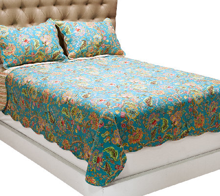 New Reversible Quilt and Sham Bedding Set by Valerie - Page 1 — QVC.com FI87