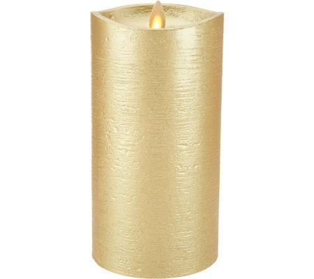 "Luminara 7"" Metallic Flameless Candle with Timer"