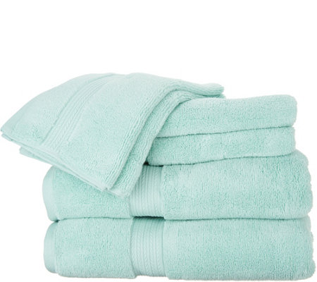 "Casa Zeta-Jones ""The Finest"" 6-Piece 100% Cotton Towel Set"