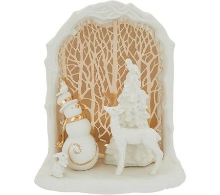 Lenox Porcelain 7 Illuminated Holiday Scene