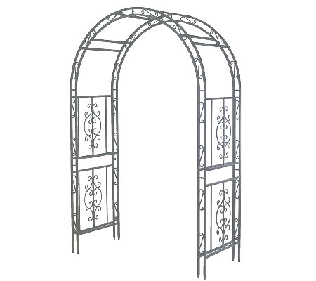 Plow & Hearth Finished Iron Montebello Garden Arbor