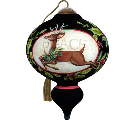 "5.50"" Seasons of Peace Reindeer Ornament by Ne'Qwa"
