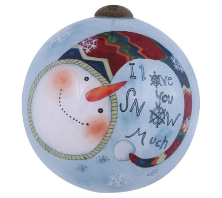 "2-1/2"" I Love You Snow Much Ornament by Ne'Qwa"