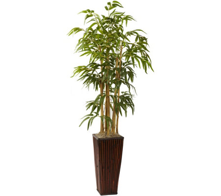 4' Bamboo with Decorative Planter by Nearly Natural