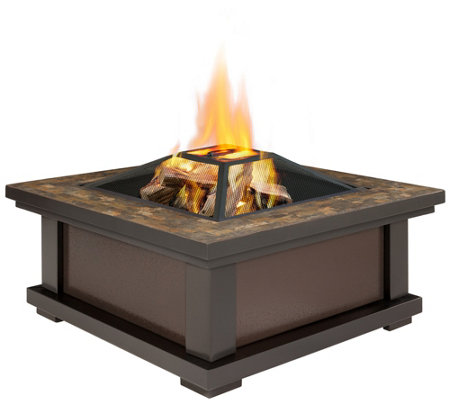 Real Flame Alderwood Wood-Burning Fire Pit