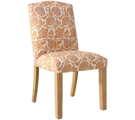 Skyline Furniture Camel Back Dining Chair In Japanais Orange