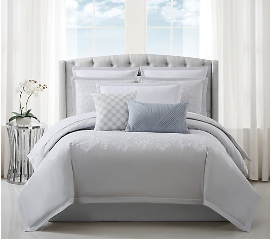 Charisma Cellini Cotton Embroidered Queen Comforter Set