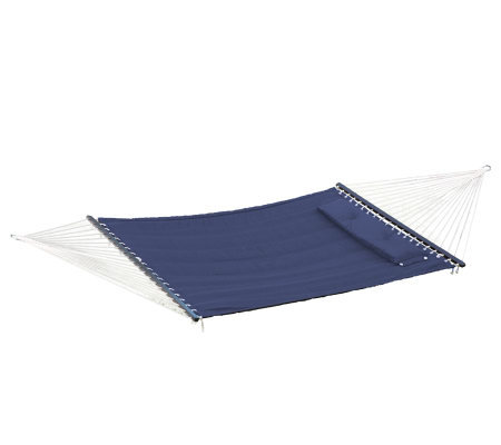 Bliss Hammocks Quilted Hammock with DetachablePillow - Blue