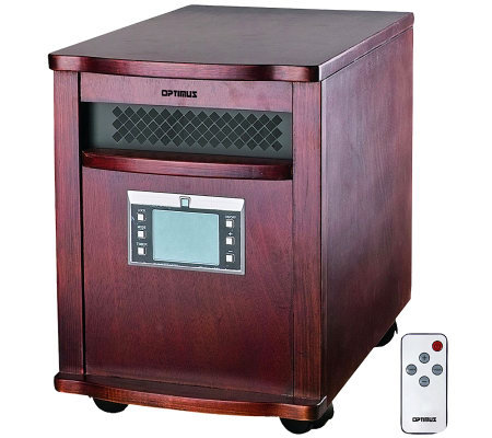 Optimus H-8010 Quartz Infrared Heater with Remote