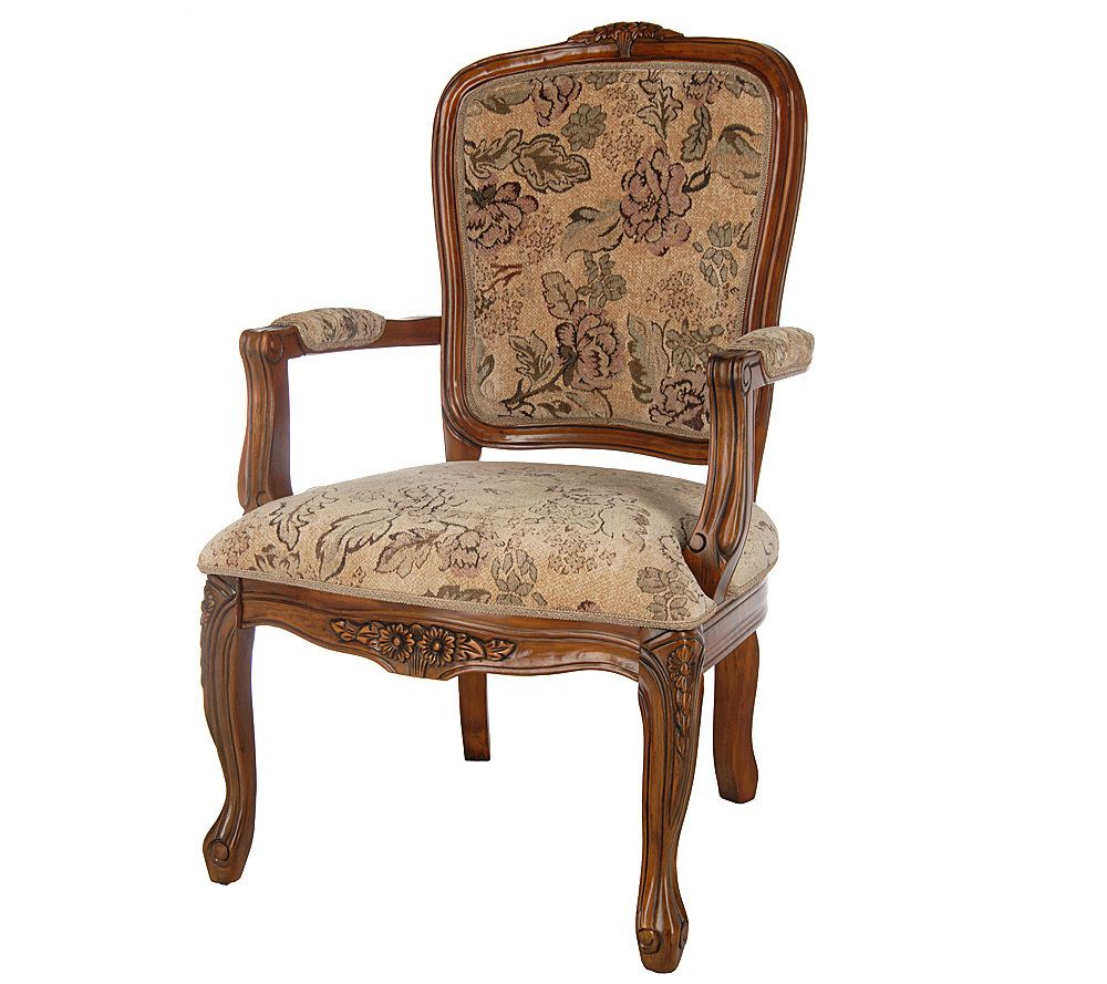 Superbe Thomas Pacconi Hand Carved Upholstered Queen Anne Arm Chair