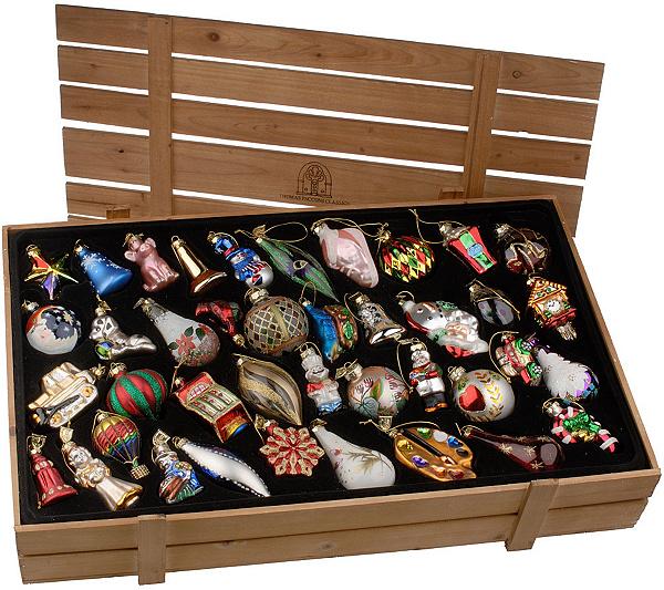 Thomas Pacconi 40-piece Blown Glass Ornaments with Wooden Box - Thomas Pacconi 40-piece Blown Glass Ornaments With Wooden Box - Page