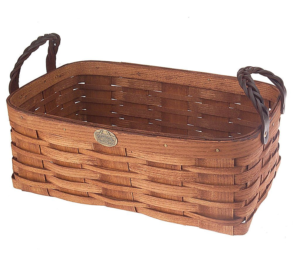 Peterboro DVD Storage Caddy Basket With Braided Leather Handles. Product  Thumbnail. In Stock