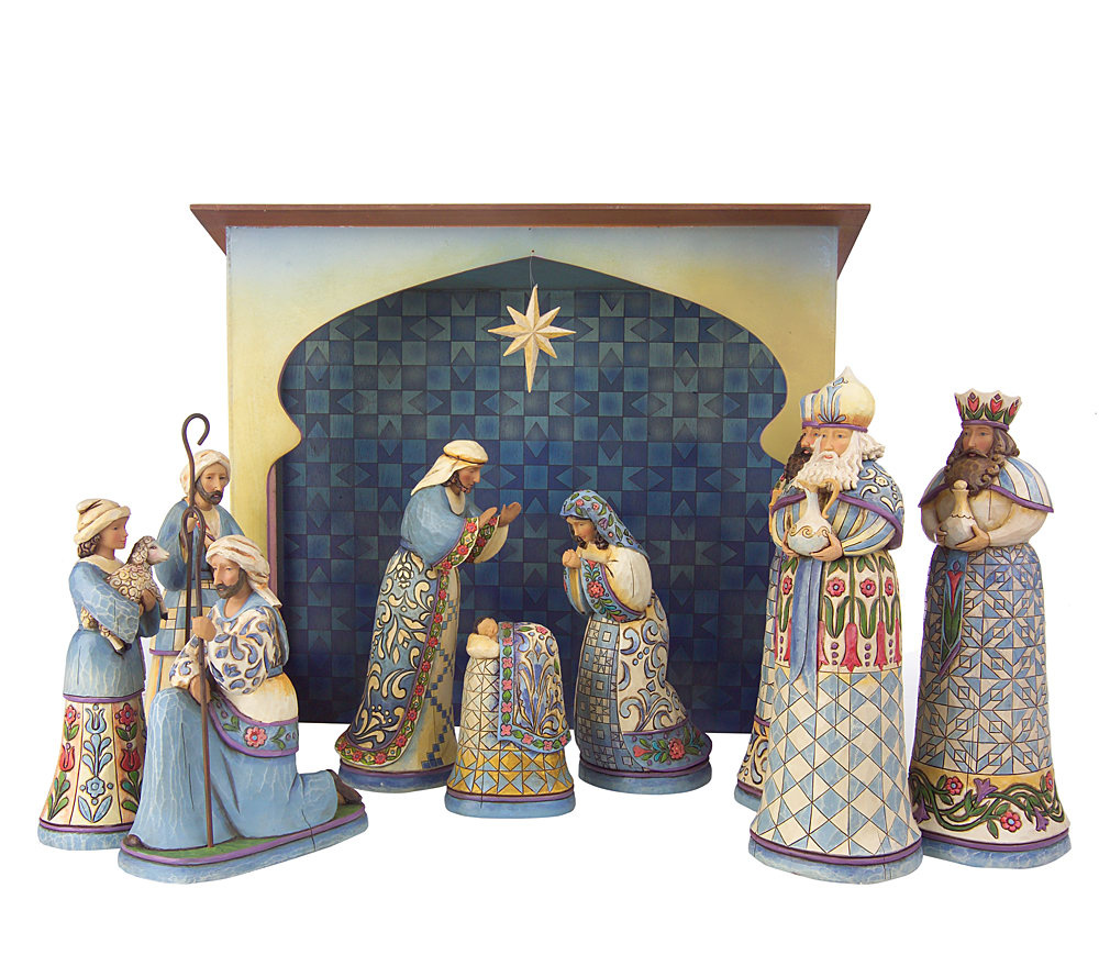 Jim Shore Heartwood Creek 10 Piece Set Nativity Scene Product Thumbnail In Stock