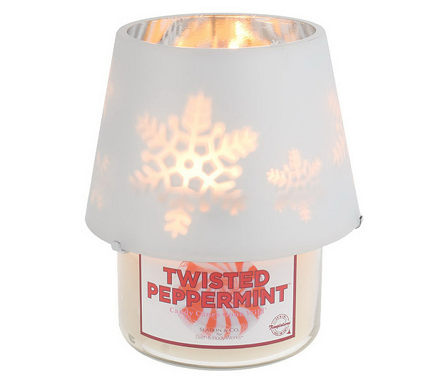 Slatkin co holiday scented candle with dancing lamp shade page holiday scented candle with dancing lamp shade page 1 qvc aloadofball Choice Image