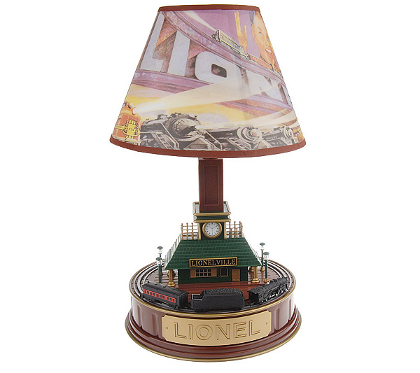 Lionel train station lamp with movement and sound qvc lionel train station lamp with movement and sound aloadofball Choice Image