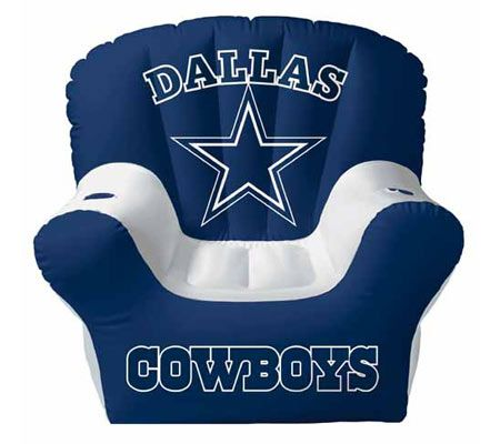 Dallas Cowboys Inflatable Chair W/Built In Stereo Speakers U2014 QVC.com