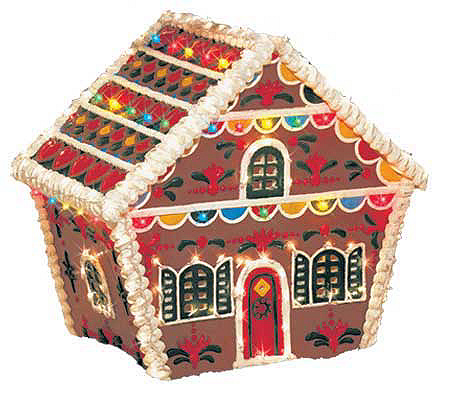 Gingerbread House Outdoor Decoration Qvc Com