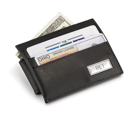 things remembered personalized money clipcredit card holder qvccom - Money Clip Credit Card Holder
