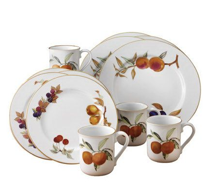 Royal Worcester Evesham Gold-Trimmed 12 pc Dinnerware Set - Page 1 u2014 QVC.com  sc 1 st  QVC.com & Royal Worcester Evesham Gold-Trimmed 12 pc Dinnerware Set - Page 1 ...