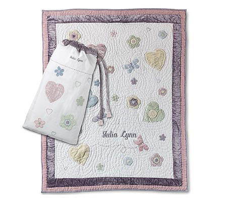 things remembered personalized butterfly flowers quilt page 1