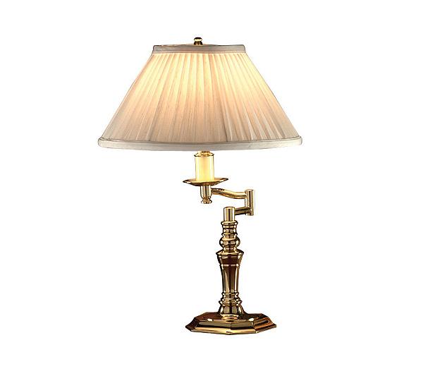 Baldwin bakersfield swing arm polished brass desk lamp qvc aloadofball Images