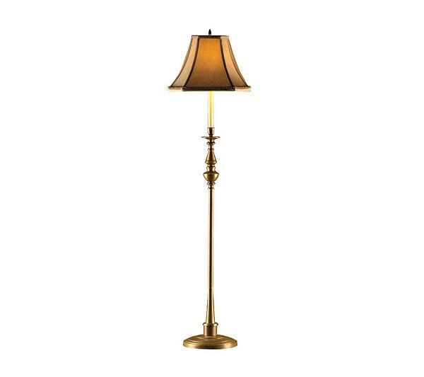 Baldwin randolph aged brass floor lamp qvc aloadofball Image collections
