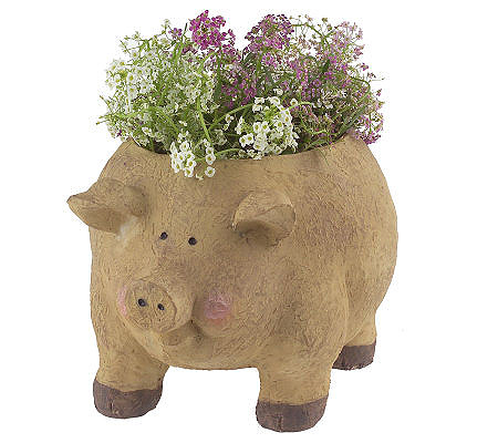 Instant Flower Garden Pig Planter With Seeded Mats Nutragro Product Thumbnail In Stock