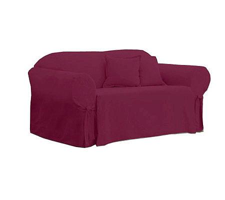 Sure Fit Cotton Duck Sofa Slipcover Qvc Com