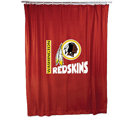 NFL Washington Redskins Shower Curtain QVC