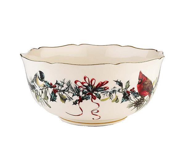 Lenox winter greetings centerpiece serving bowl qvc m4hsunfo