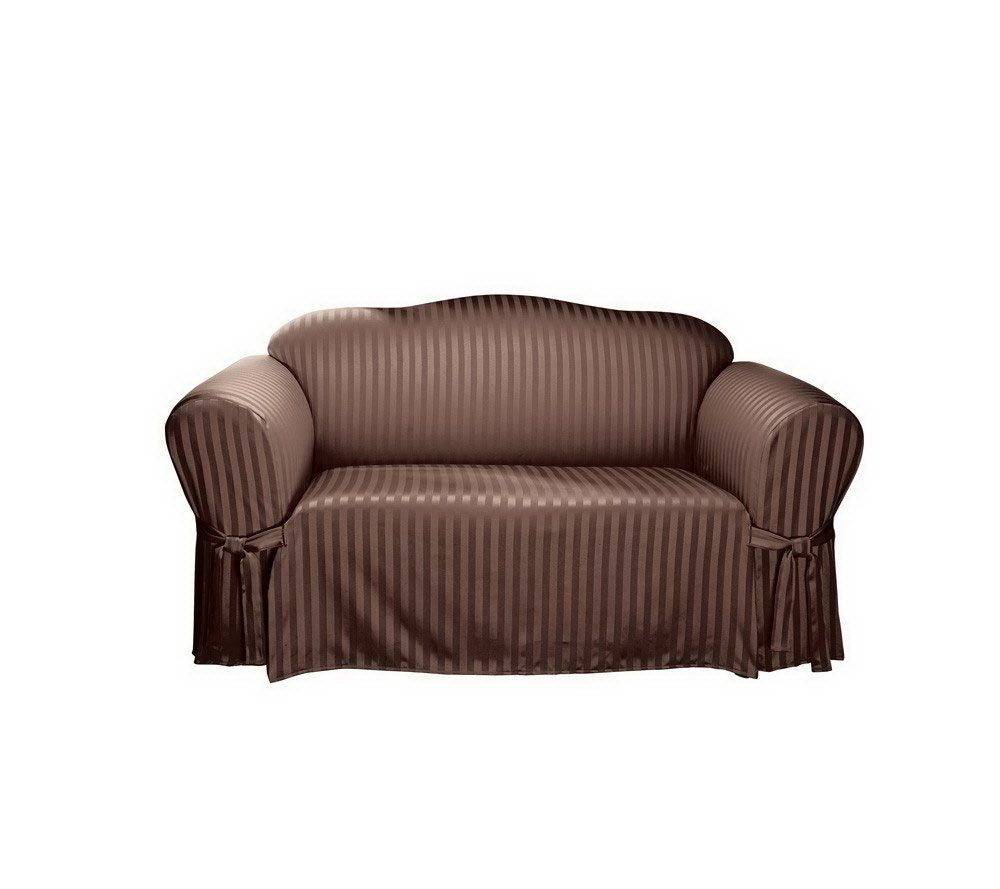Sure Fit Satin Stripe Sofa Slipcover U2014 QVC.com