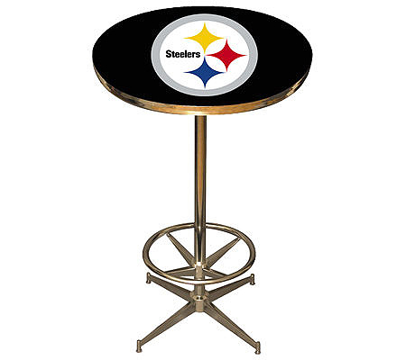 Nfl pittsburgh steelers pub table qvc watchthetrailerfo