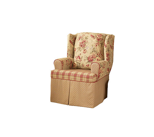sure fit lexington wing chair slipcover page 1 qvccom - Wing Chair Slipcover