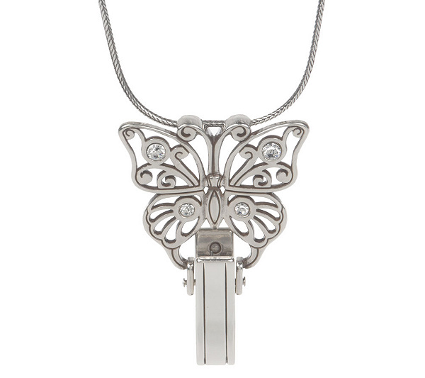 Brighton wings butterfly pendant badge clip page 1 qvc aloadofball Gallery