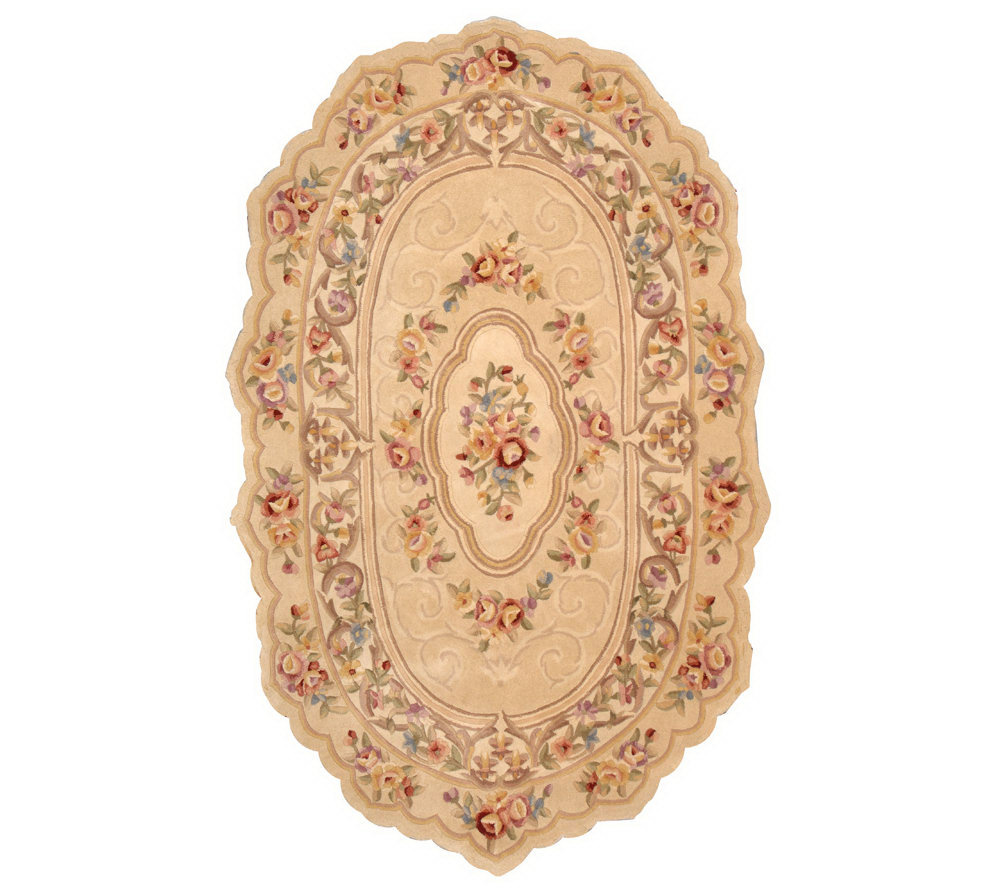 Royal Palace Graceful Scallop 3 X5 Oval Handmade Wool Rug Page 1