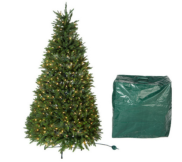 Balsam Hill Christmas Tree.Balsam Hill 6 Collapsible Prelit Christmas Tree W Storage Bag Qvc Com