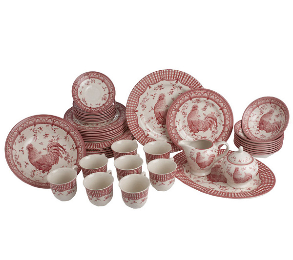 Churchill 45-piece Rooster Dinnerware Service for 8 - Page 1 — QVC.com