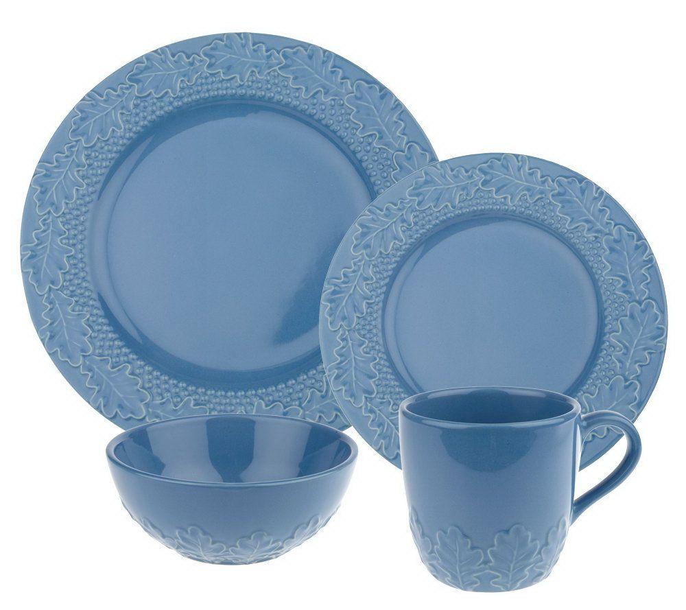 Isaac Mizrahi Live! 16 Pc Ceramic Oak Leaf Dinnerware Set - Page 1 u2014 QVC.com  sc 1 st  QVC.com & Isaac Mizrahi Live! 16 Pc Ceramic Oak Leaf Dinnerware Set - Page 1 ...