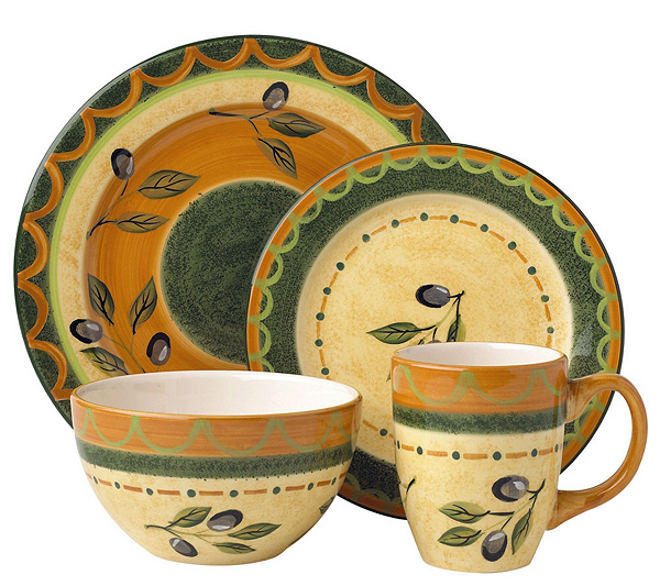 Pfaltzgraff 16-piece Everyday Tuscan Olive Dinnerware Set - Page 1 ...