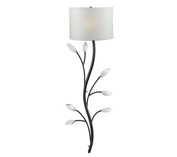 Kenroy home weston wallchiere plug in or hardwired sconce qvc greentooth Gallery