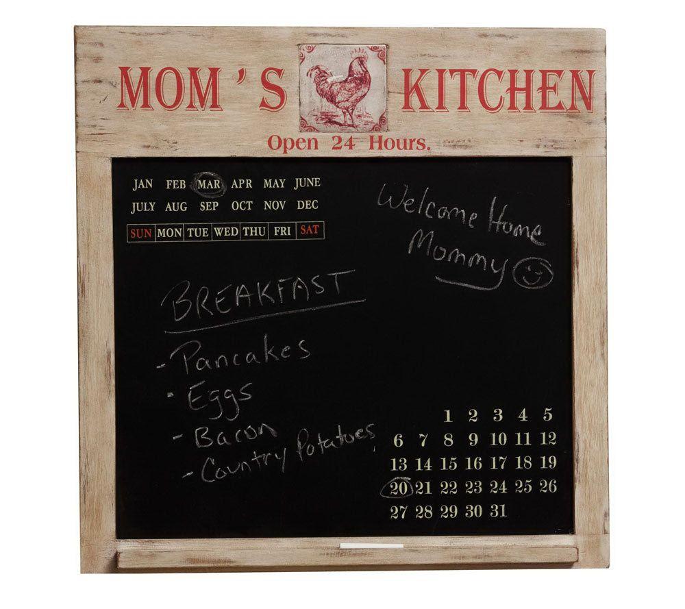 Evergreen Momu0027s Kitchen Chalkboard Calendar