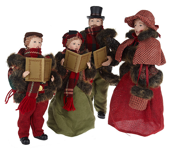 Christmas Decorations Carolers Set: Outdoor Victorian Christmas Carolers