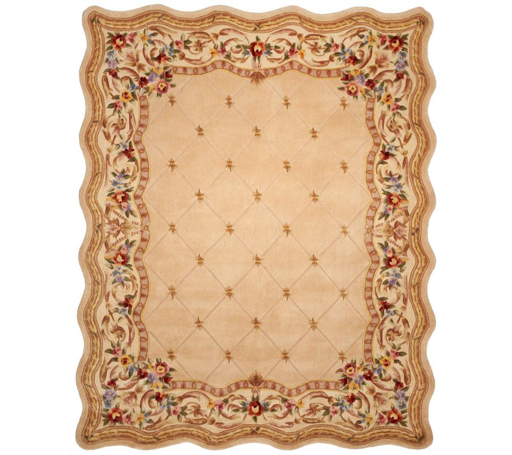 Royal Palace Fleur De Lis Scallop 8 X 10 Wool Rug Page 1 Qvc