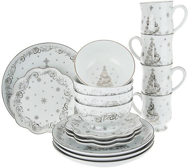 Temp-tations Metallic Christmas Eve 16-piece Dinnerware Set - Page 1 ...