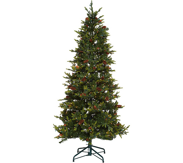 Bethlehem Lights 7.5' Heritage Spruce Christmas Tree w/Instant Power. Back  to video - Bethlehem Lights 7.5' Heritage Spruce Christmas Tree W/Instant Power