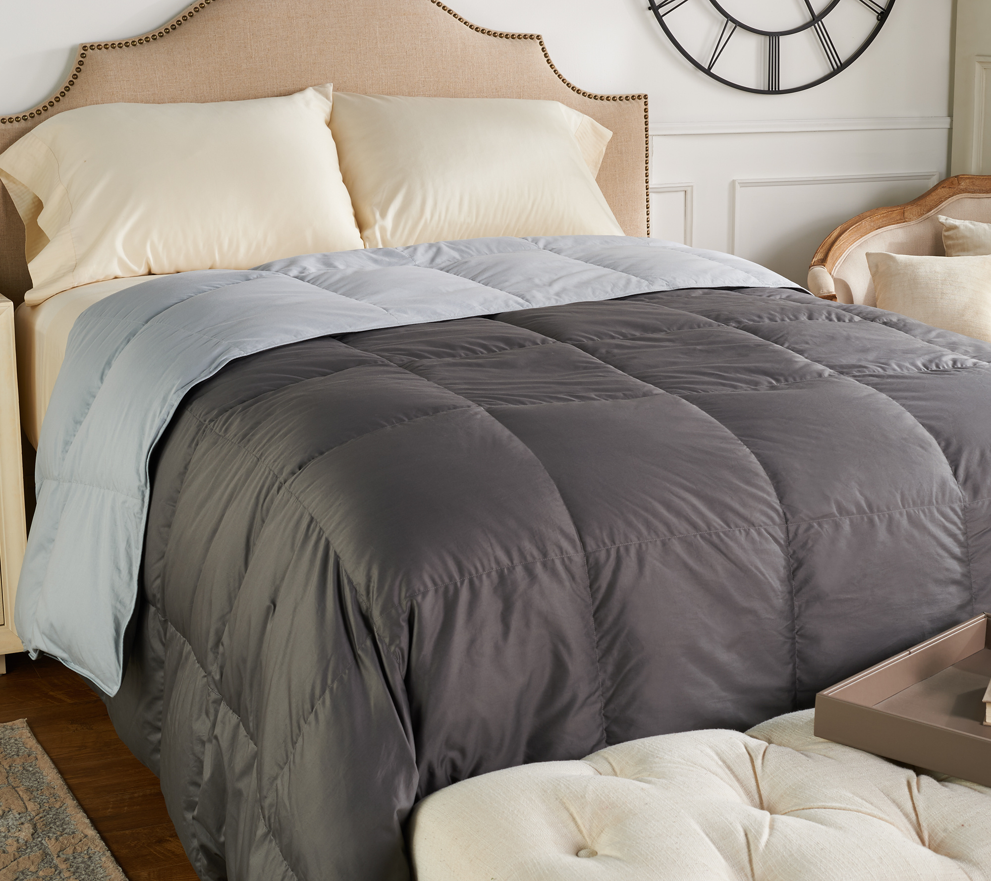 Reversible King Down Comforter Back To Video
