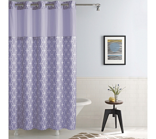 Hookless Prism Shower Curtain with Built-In Liner - Page 1 — QVC.com