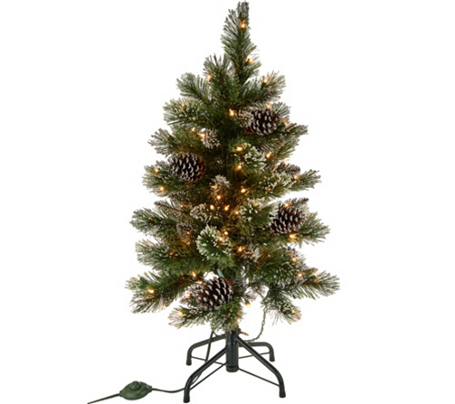 3 glistening pine incandescent slim tree by valerie qvccom
