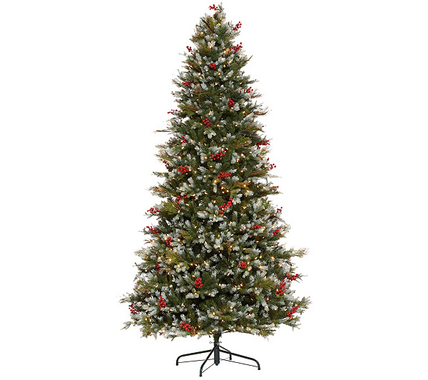 Back to video - Santa's Best 9' Sugar Spruce Christmas Tree - Page 1 €� QVC.com