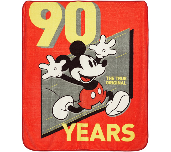 Mickey Mouse 90th Birthday 60 X 70 Silk Touch Plush Throw